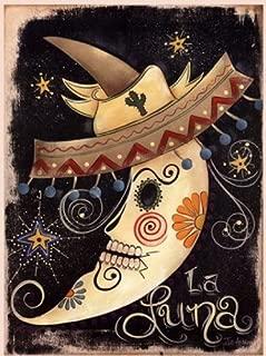 9x12 Art Print Poster La Luna Dia De Los Muertos Mexican Celebration Artwork Accent
