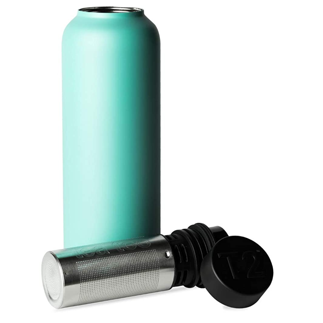 T2 Tea - Insulated Flask with Stainless Steel Infuser, Aqua (500ml/16.9 floz)