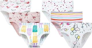 Calcinha de algodão KesYOO 6 peças para meninas