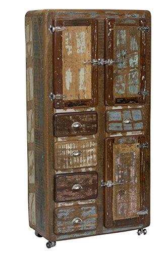 SIT-Möbel Fridge 2604-98 Schrank, recyceltes Altholz, bunt lackiert