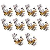 Baoblaze 10pcs Mono 1/4 Jack Socket pour Paul Strat Tele Bass Guitars Panneau De Montage Bonne Qualité - Mono Prise