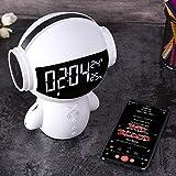 Haut-Parleur Bluetooth Robot Créatif Haut-Parleur Bluetooth sans Fil Microphone...