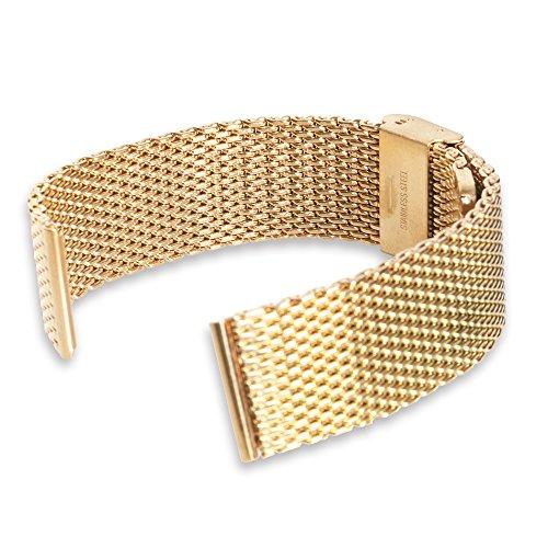 NEXTANY® Universal 22mm acero inoxidable correa de banda de reloj pulsera para Samsung Gear 2R380R381R382, LG G Watch W100, LG G Reloj R W110, LG G Watch Urbane W150