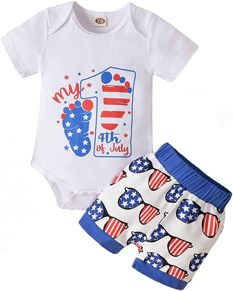 Baby Boy 4th of July Outfits My 1st 4th of July Romper Stars Shorts Infant Newborn Boy July 4th Clothes Set