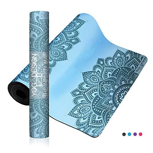 Yoga Design Lab Infinity Yogamatte 5mm   Umweltfreundlich, gepolstert und Anti-rutsch, bietet einzigartigen Halt   mit Tragegurt (Mandala Aqua)
