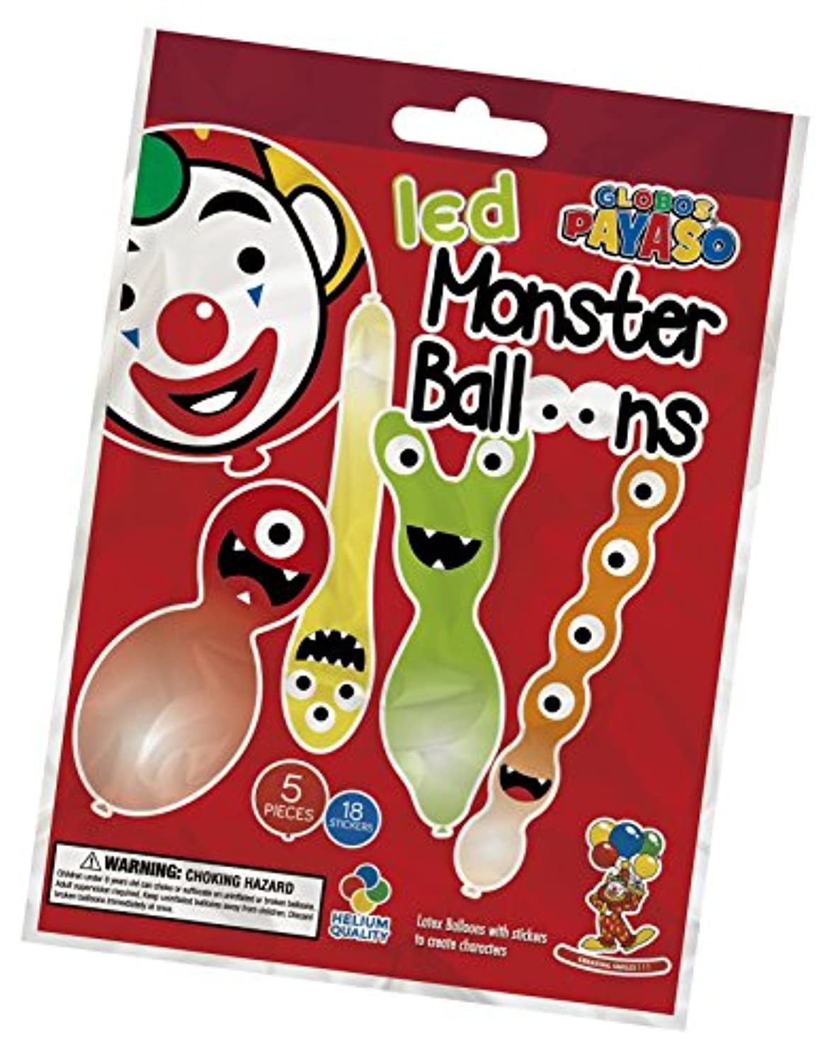 ITI Monster Balloons with Light up LED Part Halloween Light Up Funky