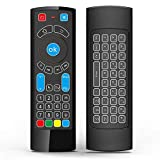 GOWELL Bluetooth Remote específicamente compatible con Amazon Fire TV y Fire TV Stick Control remoto de aire con teclado Air Mouse, compatible con Windows / Raspberry pi 3- (No Alexa)