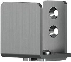 1, Matte Black Rok Hardware Heavy Duty Wall Mounted Adjustable Sliding Barn Door Floor Guide C Guide Hardware