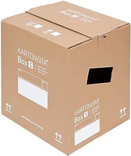 10 Stück Stabile Umzugskartons KARTONARA Box S | Kompakte Umzugskiste 32  Liter
