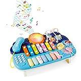 Juguete Musical para bebé-Juego con teléfono| Pearl Labirinth|Gear|Xilófono|Piano-Juguetes de Aprendizaje para Niños de 1 2 3 Años Niños Niñas Niños Pequeños Los Mejores Regalos Educativos (Azul)