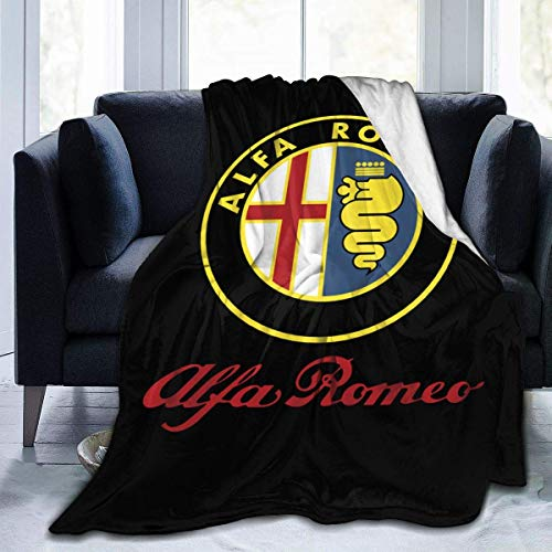 BXBX Alfa Romeo Car Throw Blanket Ultra Soft Flannel Fleece All Season Light Weight Living Room/Bedroom Warm Blanket