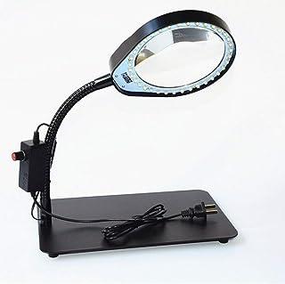 5b77147fe4 Wghz Loupe de Bureau avec 36 LED Blanche lumière 10X HD lentille de Travail  Table de