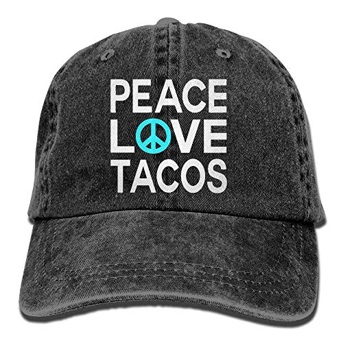 Peace Love Tacos Vintage Jeans Baseball Cap Trucker Hat for Men and Women HI452