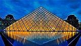 Puzzle 1000 Museo del Louvre Pirámide Madera Ensamblada Decoración Juguetes para El Hogar Juego Regalos Juguetes Educativos para Niños Y Adultos 50X70 Cm