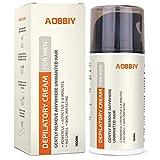 Men's Hair Removal Cream, Depilatory Cream For Men - Gentle yet Fast-Working, Fragrance-Free,...