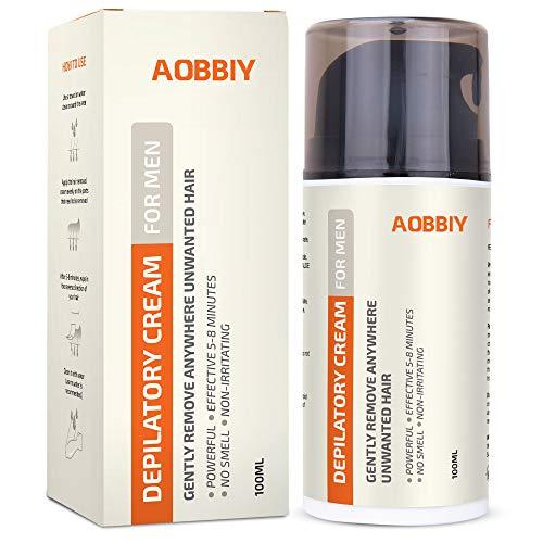 Men's Hair Removal Cream, Depilatory Cream For Men - Gentle yet Fast-Working, Fragrance-Free, Non-Irritating for All Skin Types, 100ML