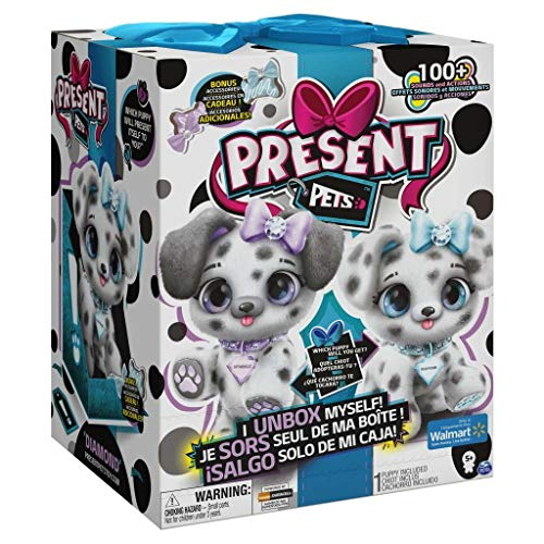 Present Pets, Diamond Dalmatian Interactive Plush Pet Toy with 2 Bonus Accessories and Over 100 Sounds and Actions (Style May Vary)