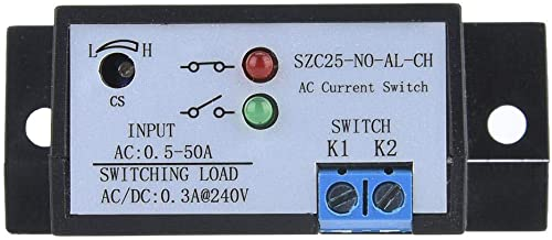 Liukouu SZC25-NO-AL-CH Self Supply Adjustable Normally Open AC Current Sensing Switch AC 0.5-50A