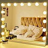 Zdorzi Vanity Mirror Makeup Mirror with Lights,Large Hollywood Lighted Makeup Mirror with USB Outlet,3 Color Modes,Touch Control 15 Dimmable Bulbs for Dressing Room & Bedroom,Tabletop or Wall-Mounted