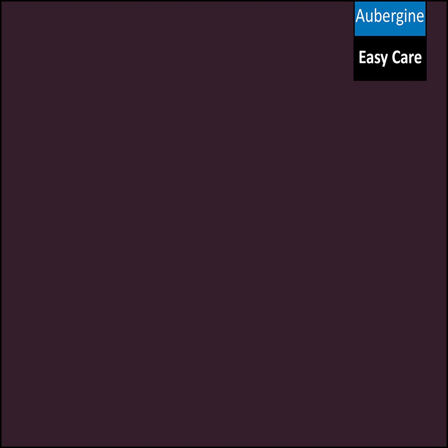 Size Double Adam Home Tto Flat Sheet Plain Dyed Poly-Cotton Bed Sheet Aubergine