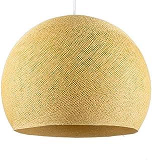 La Case De Cousin Paul - Pantalla para lámpara de techo, diseño de mostaza