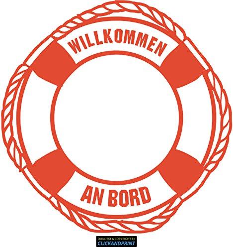 CLICKANDPRINT Aufkleber » Rettungsring, 50x49,6cm, Orangerot • Wandtattoo / Wandaufkleber / Wandsticker / Wanddeko / Vinyl