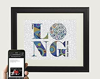 How long will I love you by Ellie Goulding Inspired Song Art - Cotton Paper Anniversary Gift for Him Valentines Gift For Husband 10x8 Print Only [並行輸入品]