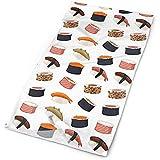 Merle House Sushi Rolls Mariscos Pescado Arroz Comida japonesa Hombres Mujeres Mascarilla Cuello Polaina Sun Shade Shield Bandanas Headwear Bandas anchas Bufanda Wrap Head