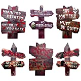 Free Yoka Halloween Decorations Outdoor Yard Signs with Stakes,6 Pack Large Size Scary Halloween Lawn Yard Decorations Waterproof