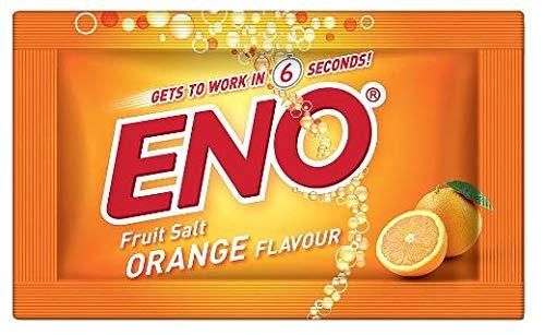 ENO Fruit Salt Orange Flavour | 5g x 10 Sachet | Fast Relief Heartburn Antacid Indigestion Flatulence Gas Wind Bloating Acid Reflux| | Herbal | Ayurvedic