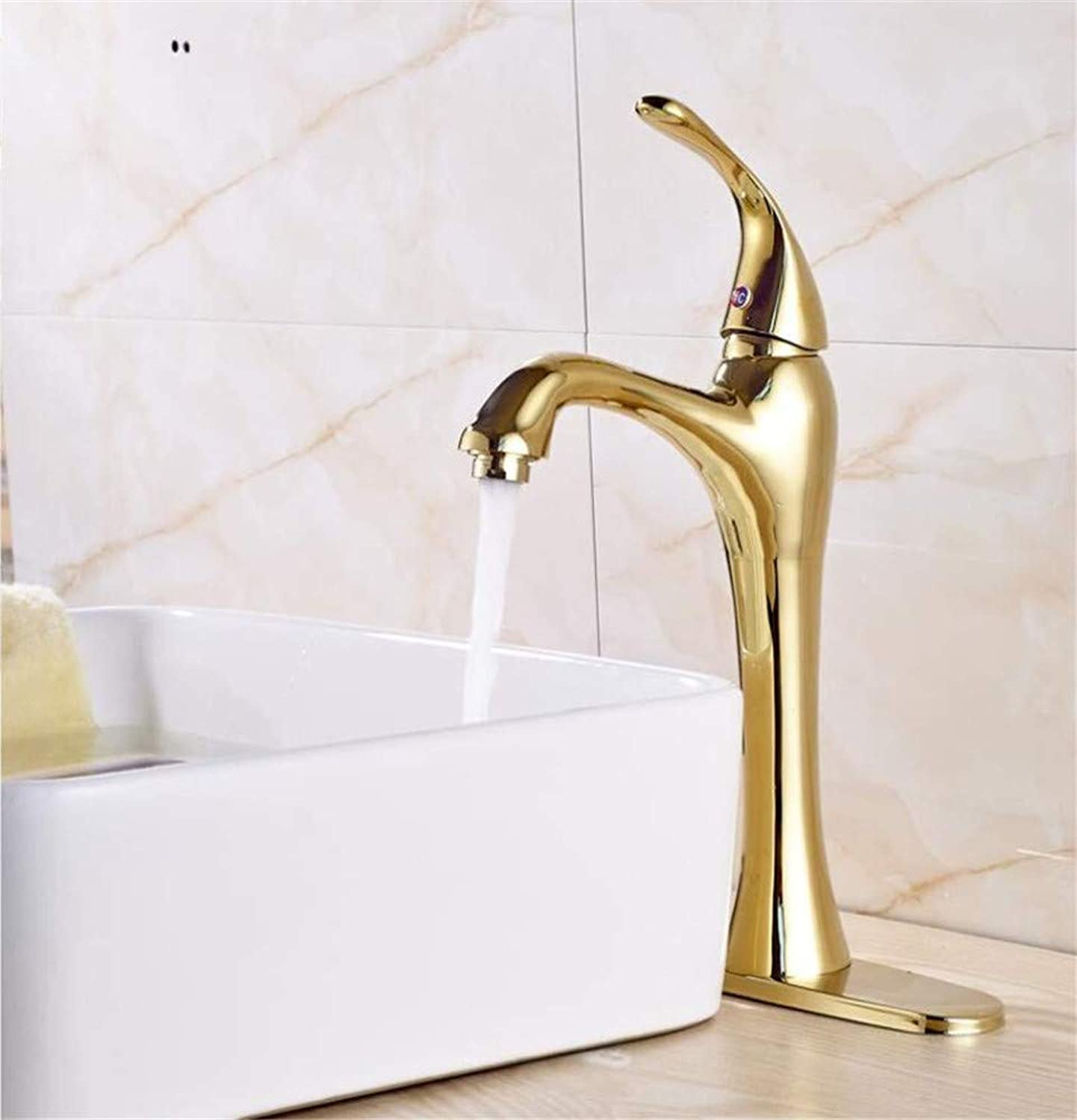 360° redating Faucet Retro Faucetbathroom Sink Faucet Deck Mounted Single Handle Mixer Tap with 10  Cover Plate