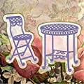 2Pcs Cutting Dies,Letmefun Metal Cutting Dies Stencils Scrapbooking for Card Making DIY Embossing Diecuts New Craft Table and Chair Dies 2019