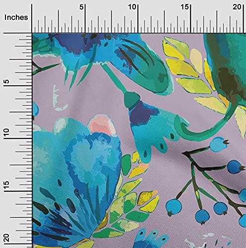 oneOone Flex Algodón Violeta Polvorienta Tela Florales Quilting Suministros Imprimen Cosiendo Telas Por Metros 40 Pulgada De Ancho
