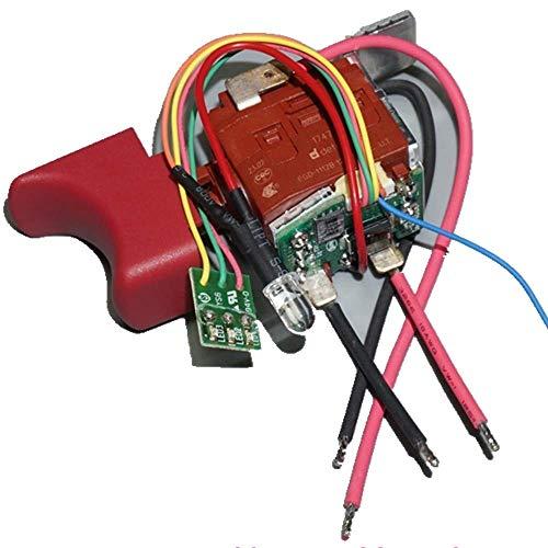 MQEIANG Interruttore 10.8v12v Attrezzatura dell'impianto PowerDriver Switch Switch Switch Switch avanti e Display di Alimentazione inverso EGD-1112B