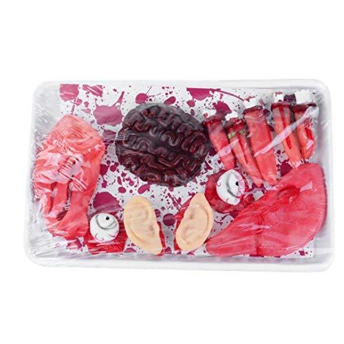 Organos Del Cuerpo Falsos Bloody Body Parts Corazón Artificial Humano, Cerebro, Hígado, Ojos, Orejas, Dedos De Halloween Del Partido, Encantada Decoración De La Casa, Del Inocente Broma Juguetes