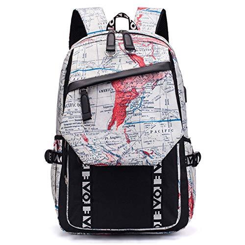 Versión coreana de la mochila de la marea para hombres y mujeres, con puerto de carga USB, bolsa de escuela secundaria para estudiantes de secundaria,...