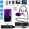 [Upgraded Version] WiFi Endoscope, Shopline 1200P HD Wireless Inspection Endoscope with 8 LEDs 2.0 Megapixels Waterproof Snake Camera for Android, iPhone, Tablet, iPad and more