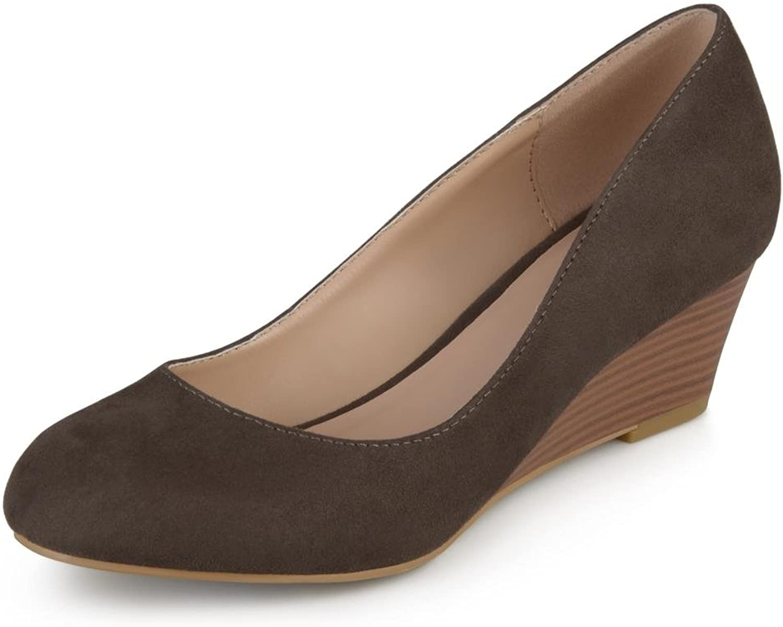 Journee Collection Telora Women Brown Wedge Heel