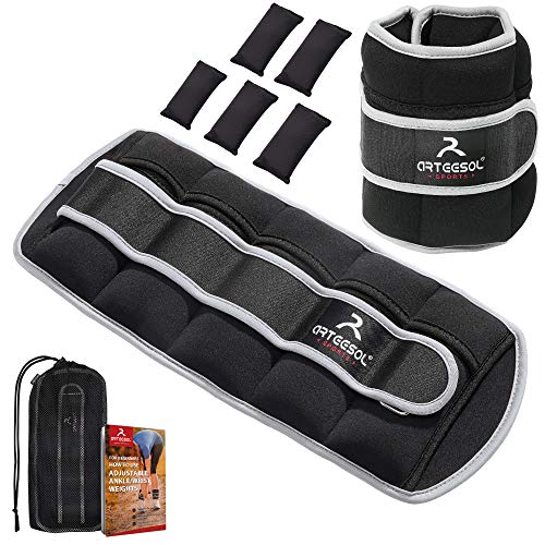 arteesol Adjustable Ankle Weights(0.18Kg-4.4Kg for A Pair),Wrist Weights,Leg Weights for...