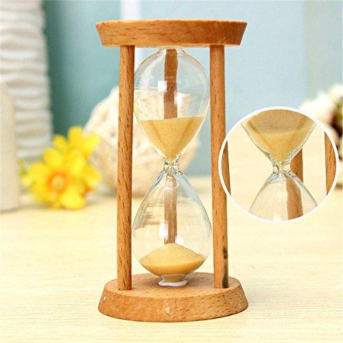 Bluelover Minuterie De Cuisine 3 Minutes en Bois Sable Horloge Sablier Hourglass Horloge Home Decor Cadeau Unique