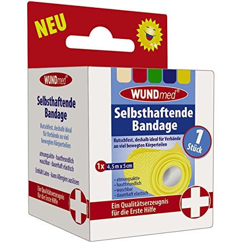 Wundmed zelfklevende bandage 4,5 m x 5 cm kleur varieert, 3-delige voordeelverpakking