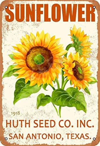 Sunflower Huth Seed Blechschild Metall Plakat Warnschild Retro Eisenblech Plakette Jahrgang Poster Schlafzimmer Familie Wand Aluminium Kunstdekor