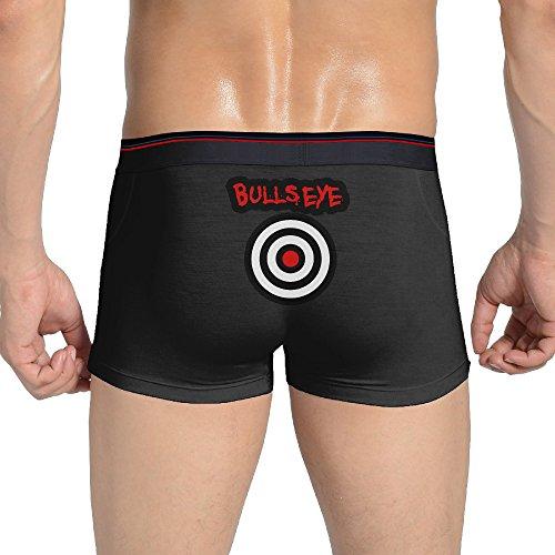 Ghdgf Men Bullseye Fashion Logo Boxer Brief Underwear Briefs Black