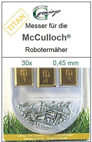 30 TITAN Messer Ersatzmesser Klingen 0,45mm für McCulloch Rob R600 R1000 Mc Culloch