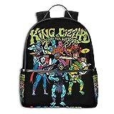 Mochila Mochila de Viaje King Gizzard and Lizard Wizard Backpack 3D Full-Print Backpack Campus School Bag Casual Backpack Gym Travel Hiking Backpack
