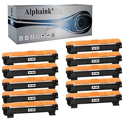 Alphaink 10 Toner compatibili con Brother TN-1050 TN-1000 per stampanti Brother HL-1210W HL-1212W HL-1110 HL-1112 DCP-1510 DCP-1512 DCP-1610W DCP-1612W MFC-1810 MFC-1910W