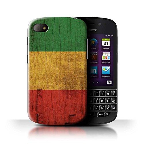Stuff4 Hülle/Hülle für BlackBerry Q10 / Holz Bewirken Muster Muster/Rasta Reggae Kunst Kollektion