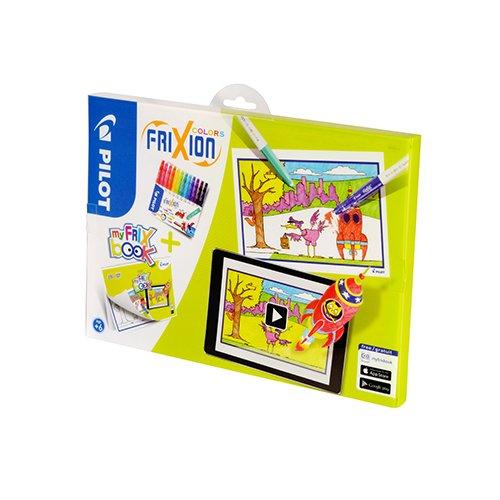 PILOT - myFRIXbook - Radierbare Fasermaler im 12er Set inkl. Malbuch und kostenfreier App