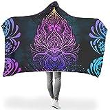 chanpin - coperta con cappuccio, per divani primaverili o autunnali o invernali, calda, incolore, panno in gomma, bianco, 150 x 200 cm