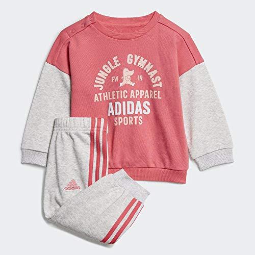 adidas I Graph Jog Ft, Tuta Unisex-Bambini, rosrea/Brgrcl, 104